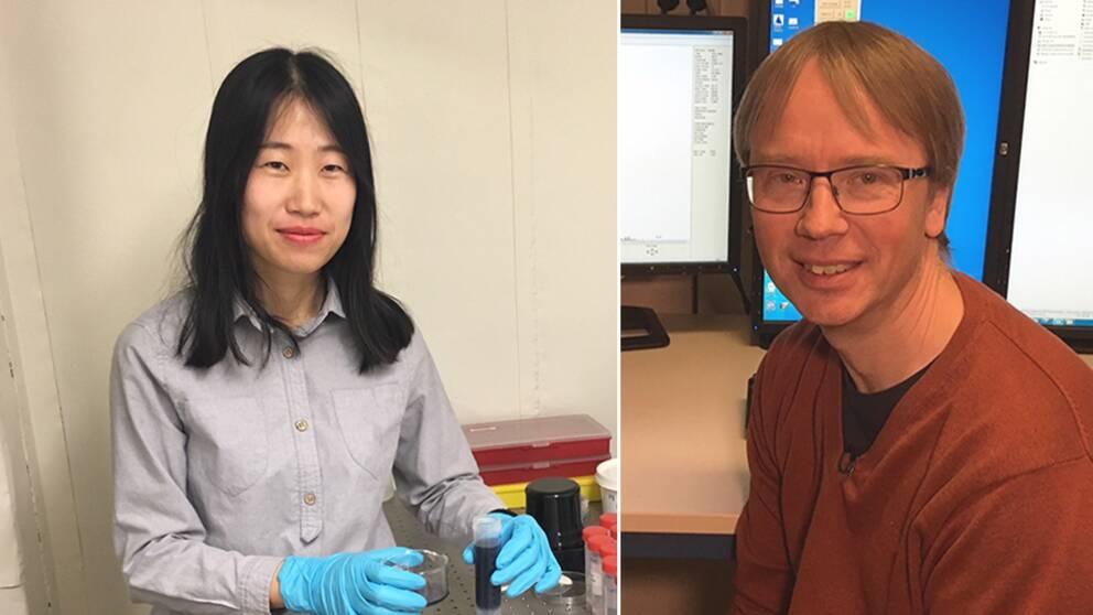 Forskarna An Siwen och Börje Norlin