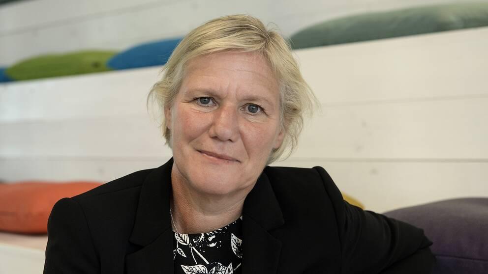 Ann-Marie Begler blir ny generaldirektör för Försäkringskassan Här i Försäkringskassans nya lokaler vid Telefonplan i Hägersten utanför Stockholm 27 augusti 2015.