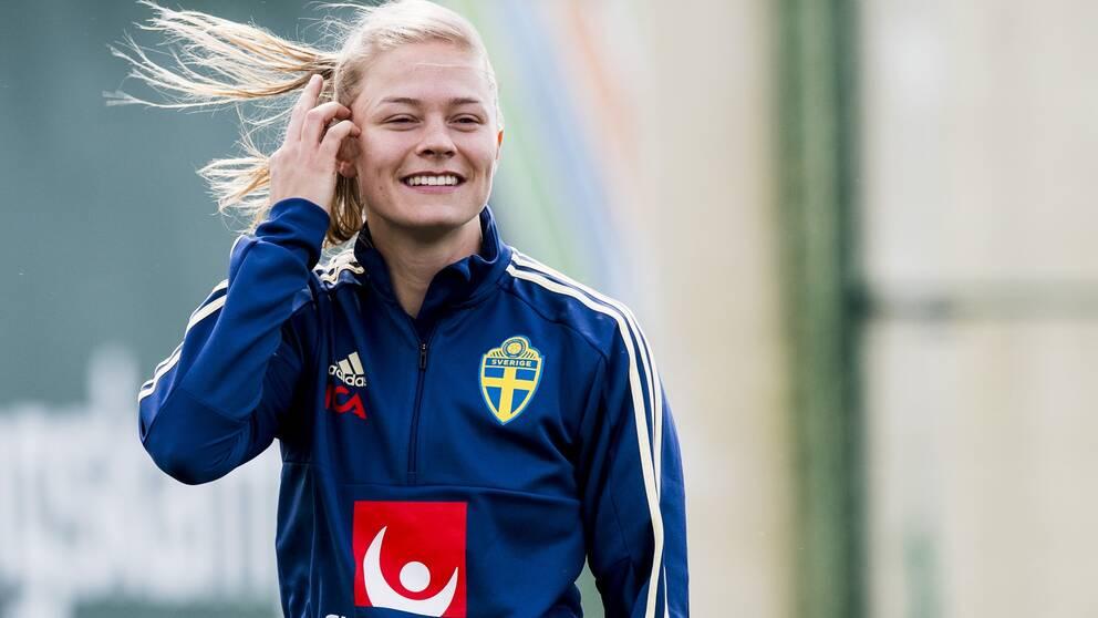 Fridolina Rolfö satte 2-0-målet mot Wolfsburg.