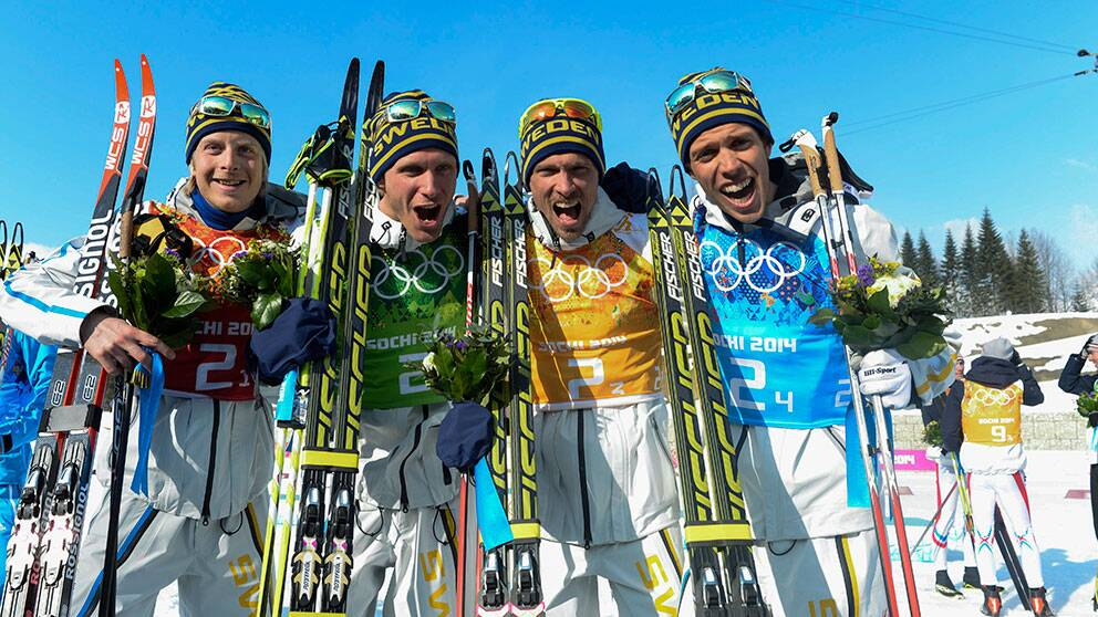 Sverige tog OS-guld i stafetten   SVT Sport