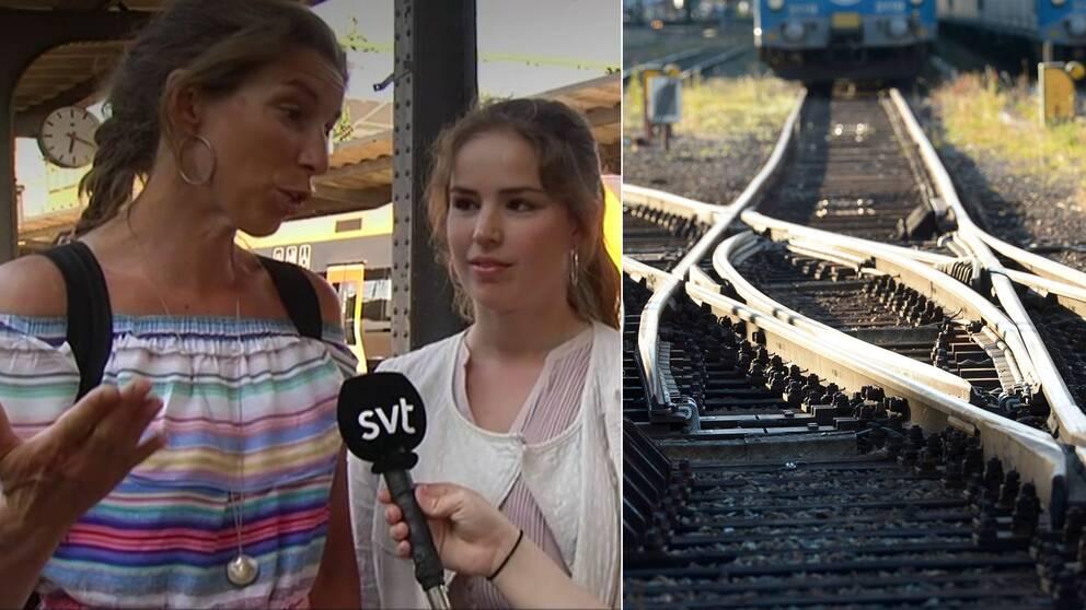 """Resenären Beata Wickbom: """"Extremt konstigt att tågen ställs in på grund av värme"""""""