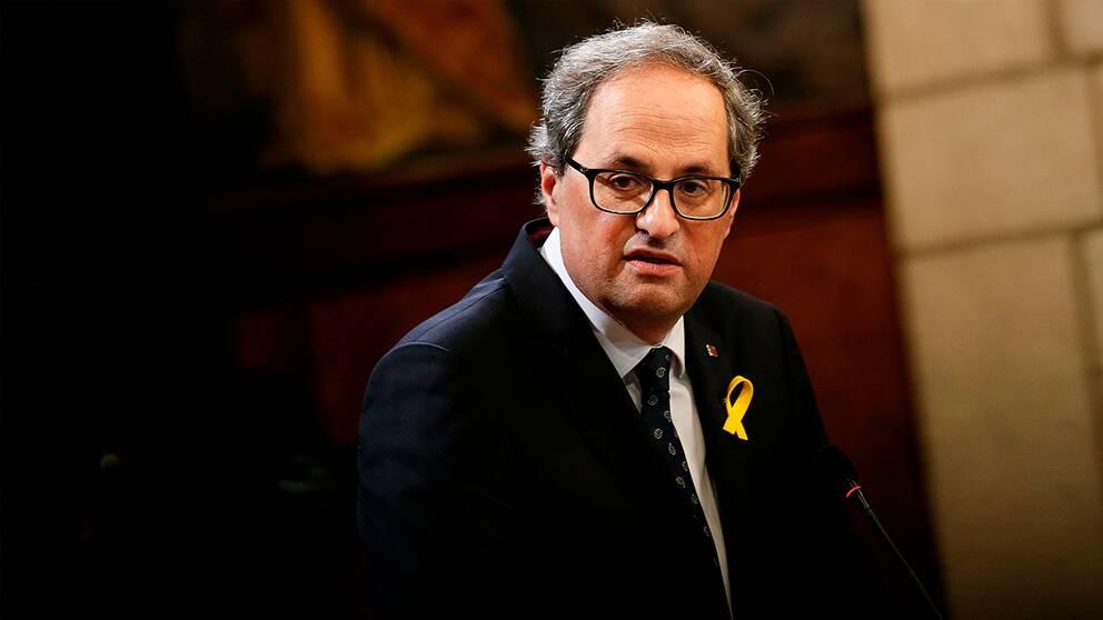 Kataloniens ledare Quim Torra.