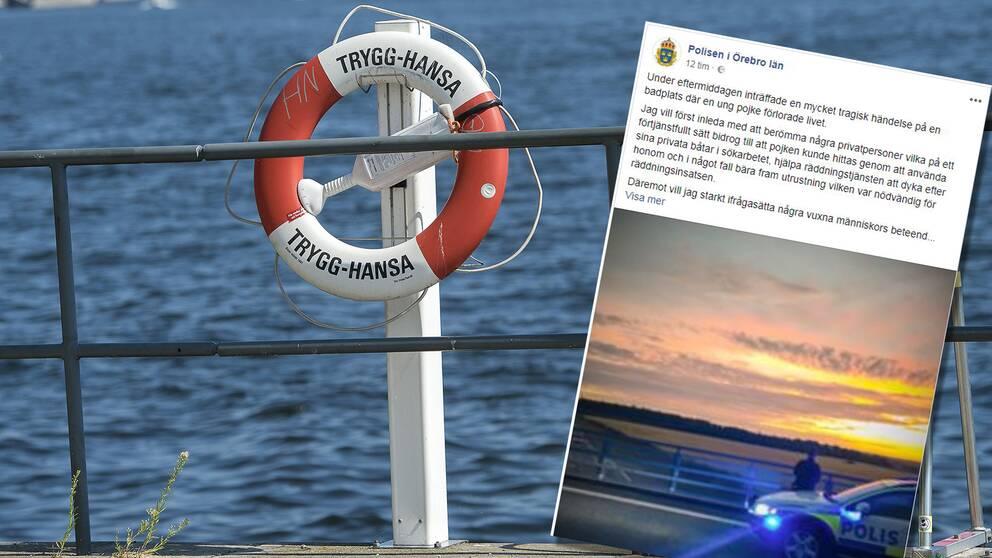 Polisen i Örebro riktar skarp kritik mot människorna på campingen som hindrade räddningsarbetet vid drunkningsolyckan.