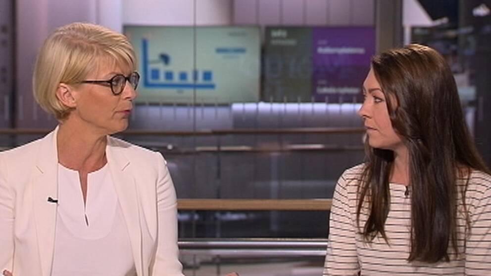 Debatt i morgonstudion mellan Maria Ferm (MP) och Elisabeth Svantesson (M) om ensamkommande.