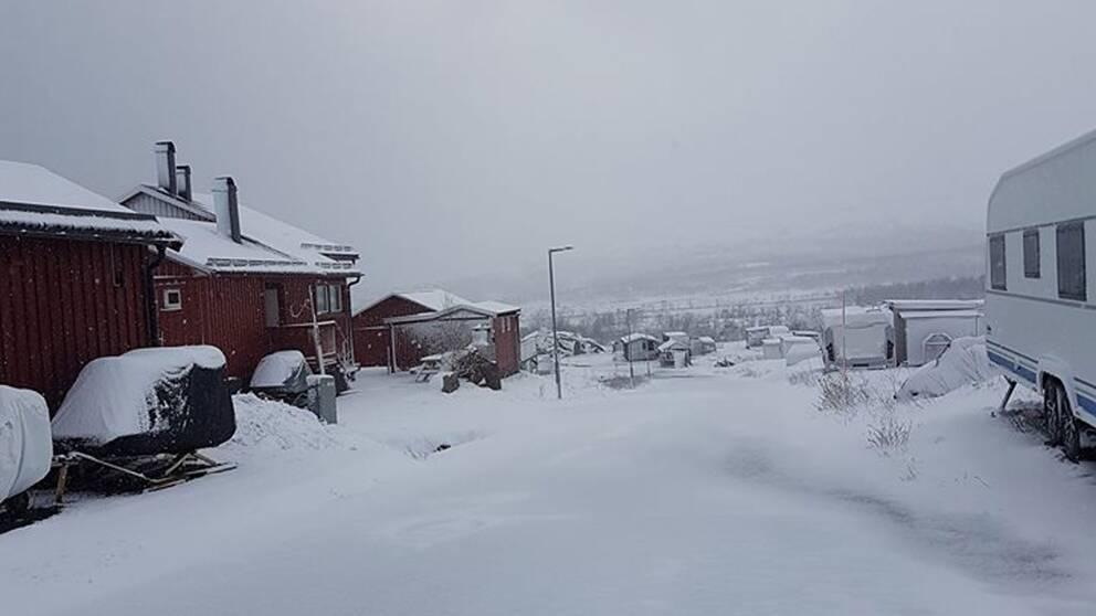 Snö i Katterjåkk