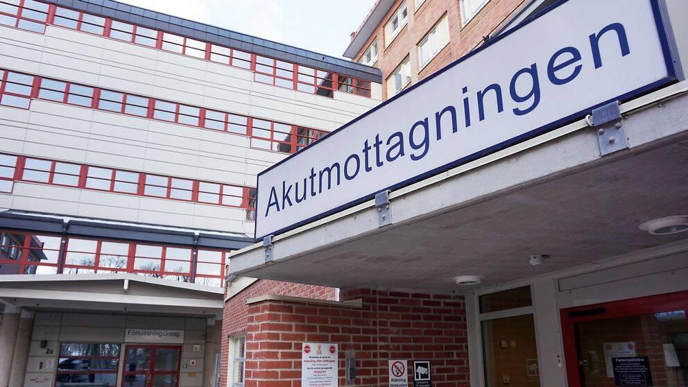 ingången till akutmottagningen i Växjö
