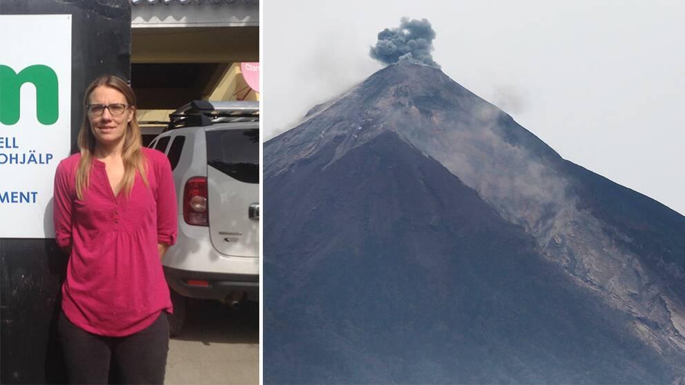 Guatemala-bon Kristina Jannerbo och vulkanen Fuego