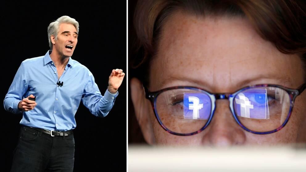 Apples mjukvaruchef Craig Federighi: Facebook håller uppsikt över användarna på sätt de nog inte känner till.