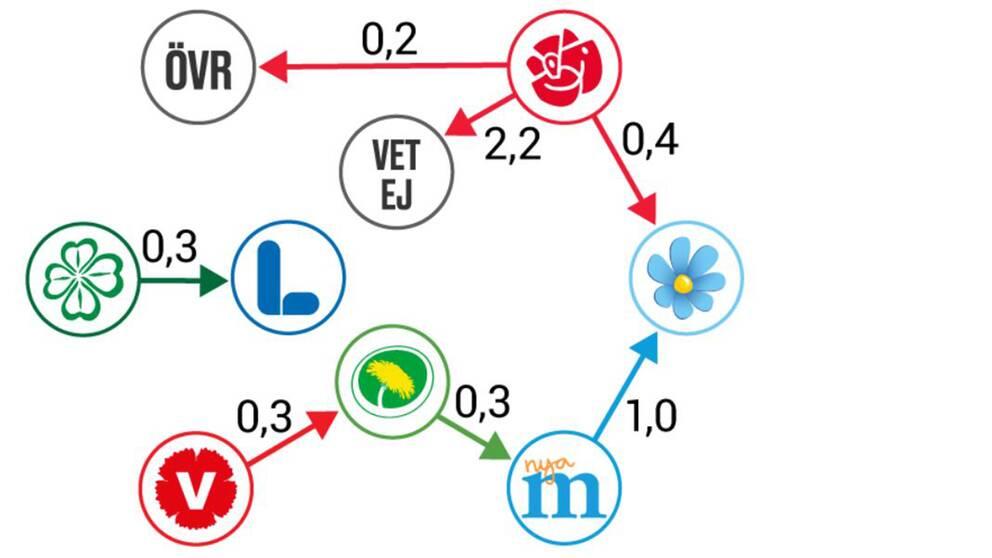 Bild som visar väljarflöden grafiskt.