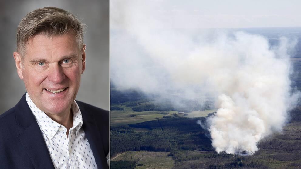 MSB:s Jan Wirsén om de senaste skogsbränderna i Sverige.
