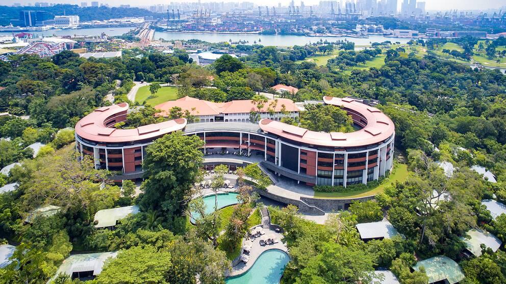 Lyxhotellet Capella Hotel på ön Sentosa blir platsen för världsmötet.