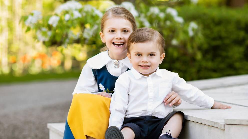 Prinsessan Estelle och prins Oscar.
