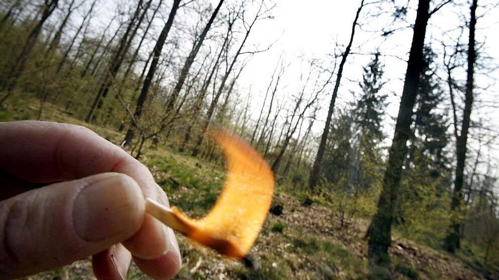 Eldningsförbud råder.