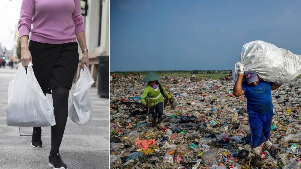 Bildresultat för plastpåsar miljö