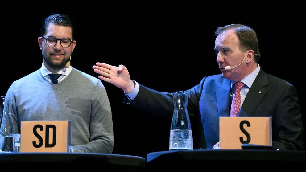Sverigedemokraterna pa vag bli landets tredje storsta parti