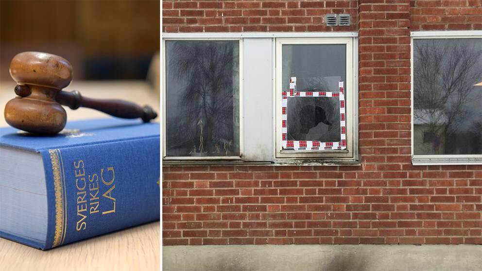 20-åringen döms för mordbrand efter branden vid moskélokalen i Strömsnäsbruk.