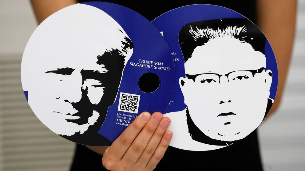 Bild på det mediakit journalister får vid toppmötet mellan Dondald Trump och Kim Jong-Un.