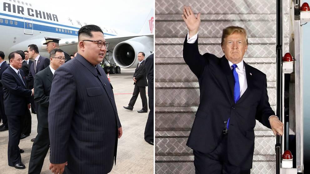 Kim Jong-Un och Donald Trump.