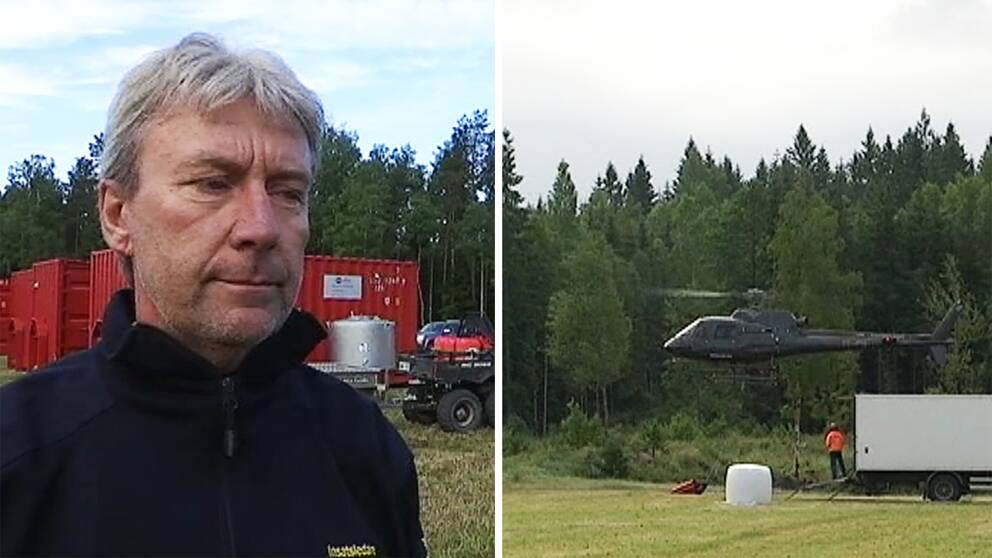Hör räddningsledare Lars Eliasson berätta om läget