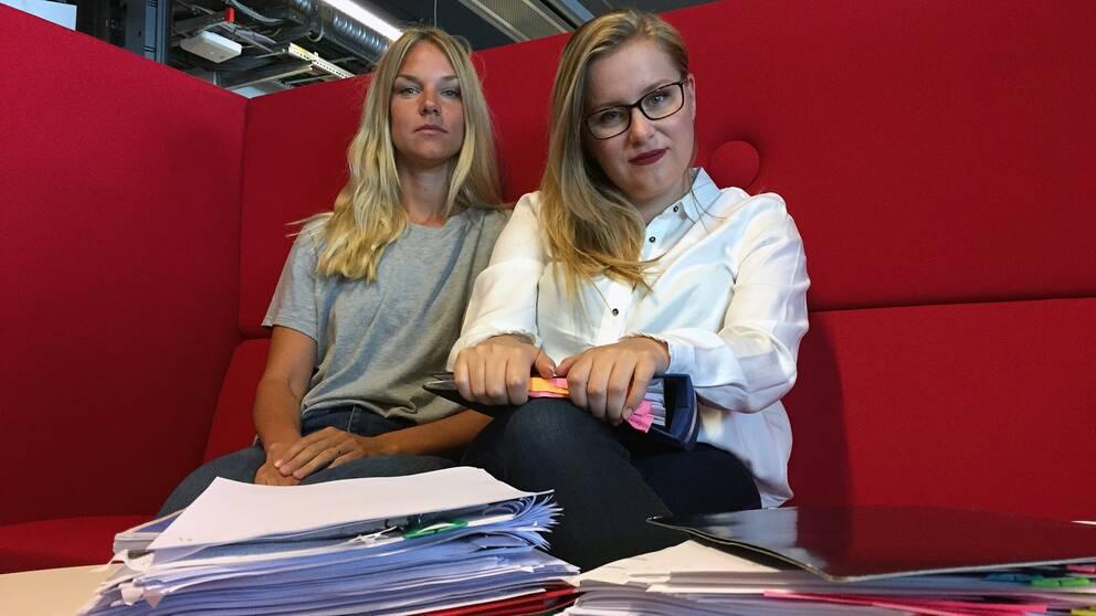 Natalie Medic och Johanna Jönsson på SVT Nyheter Helsingborg