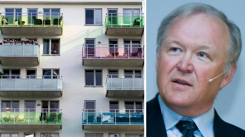 Balkonger och Göran Persson.