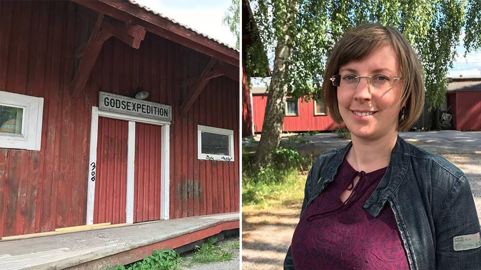 Godsmagasinet och Hanna Klingborg (MP), ordförande i Järna kommundelsnämnd.