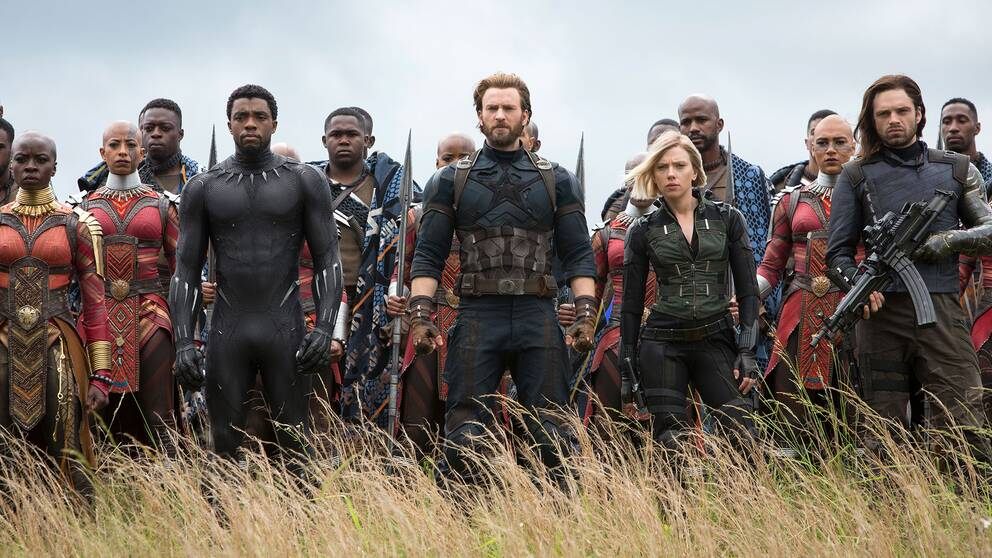 Karaktärer från filmen Avengers: Infinity Wars