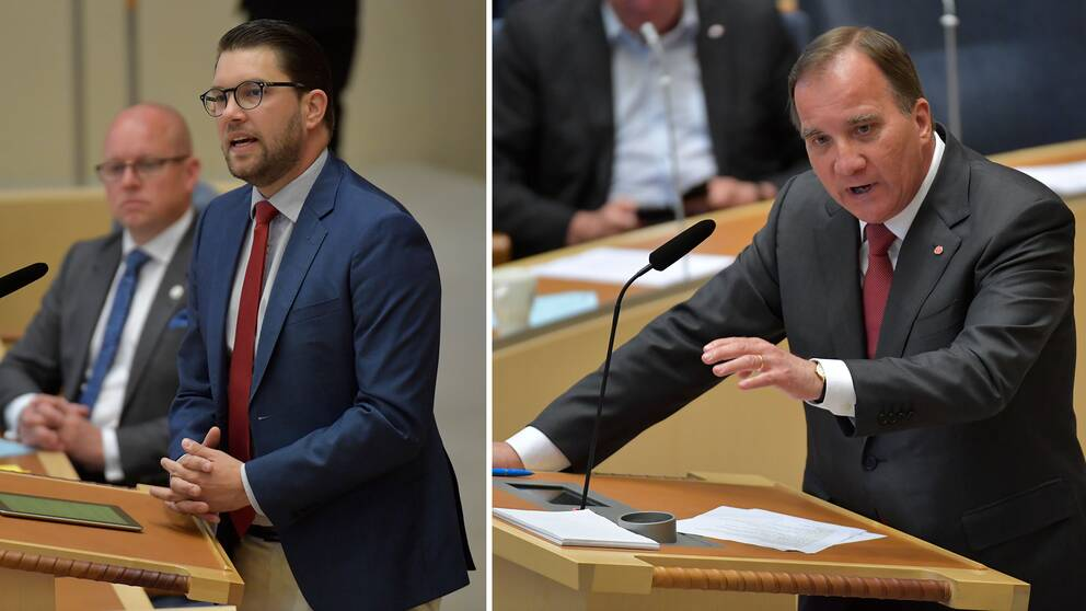 Jimmie Åkesson (SD) beskrev Stefan Löfven som en katastrof. Löfven kontrade med att be Åkesson googla ordet humanism