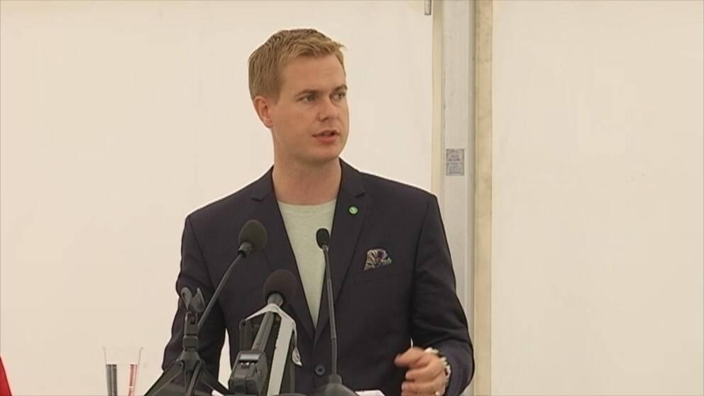 Miljöpartiets språkrör Gustav Fridolin.