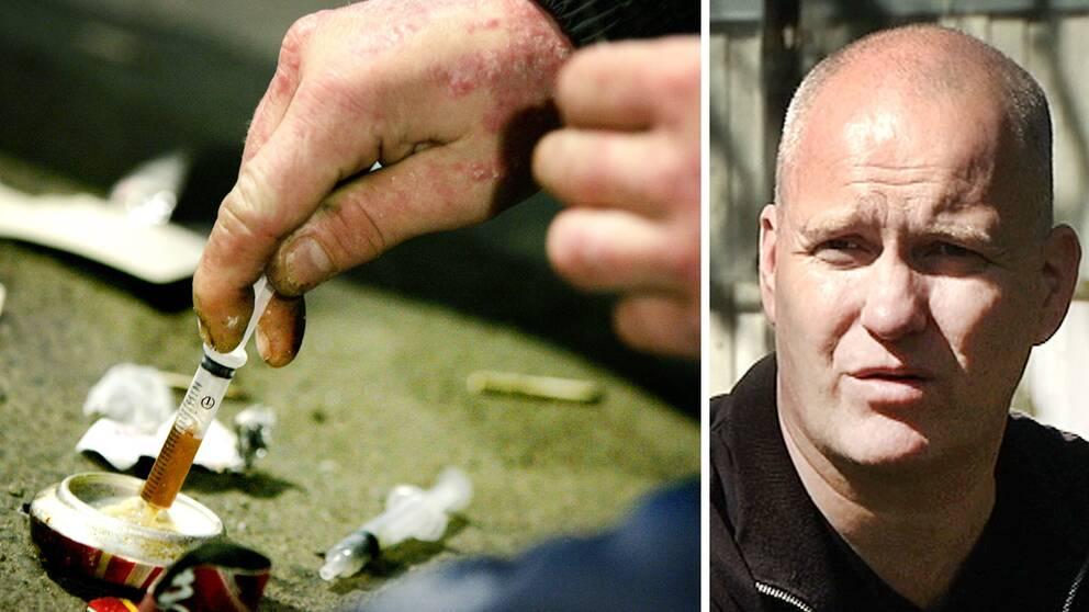 """Lennart Karlsson, poliskommissarie och ordförande vid Svenska narkotikapolisföreningen ser det som verkningslöst att ge böter åt """"utsatta personer på samhällets botten med beroendeproblem"""""""
