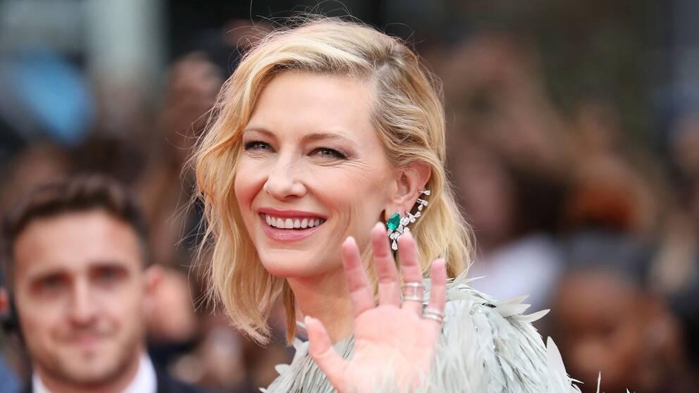 Cate Blanchett vid premiären för Ocean's 8 i London.