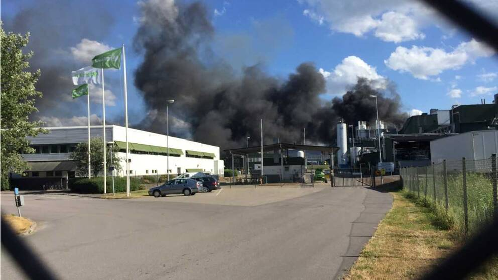 Brand i Fortum waste solutions.