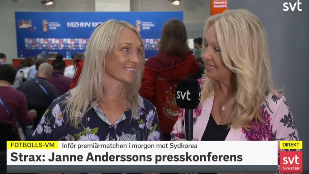 Så var Sveriges presskonferens inför VM-premiären  2d6c56edec029
