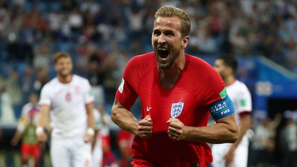 Harry Kane efter mål mot Tunisien