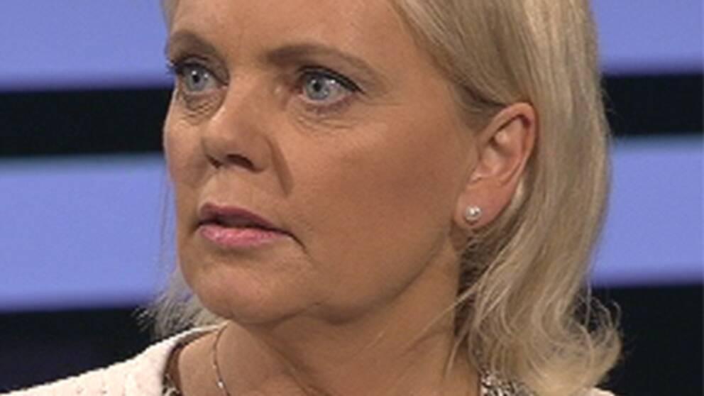 Folkpartiets Marit Paulsen och Sverigedemokraternas Kristina Winberg möttes i debatt inför EU-valet.