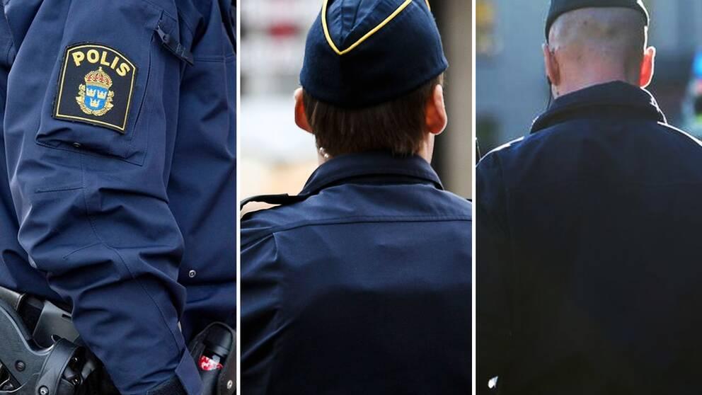 Kollage med tre poliser.