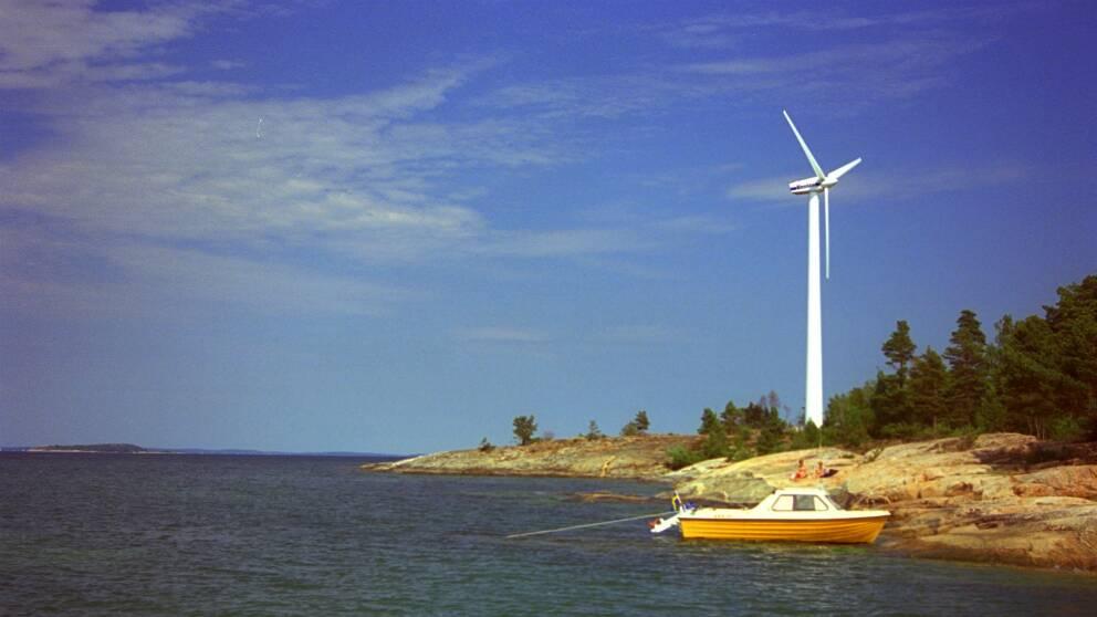 Vindkraftverket på Utö tas bort