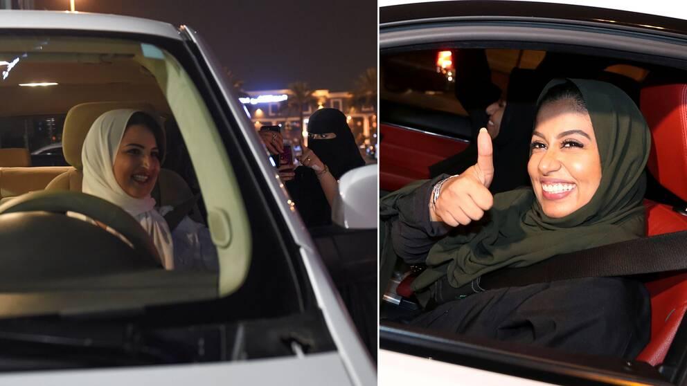 Kvinnliga bilförare i Saudiarabien.