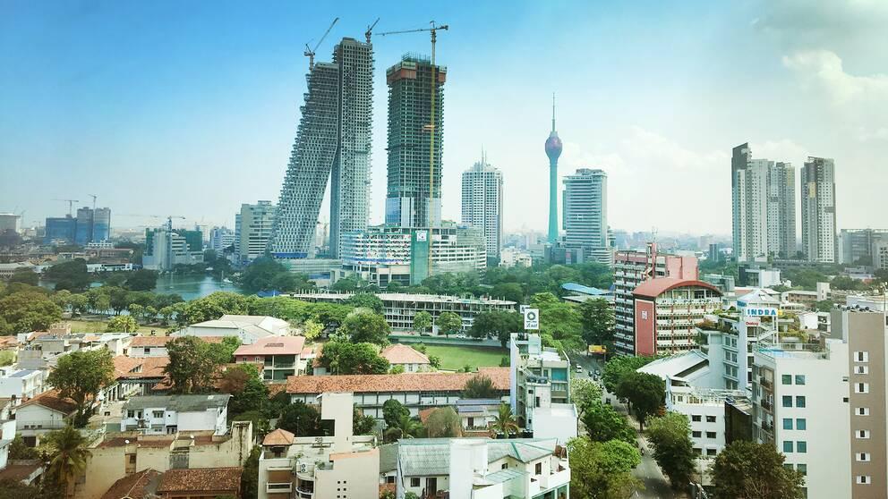 En bild av det nya Sri Lank och Colombo – här är huvudstadens nya skyline vid stadsdelen Galleface