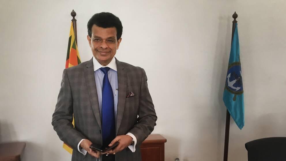 Parakrama Dissanayke, generaldirektör Sri Lankas hamnar