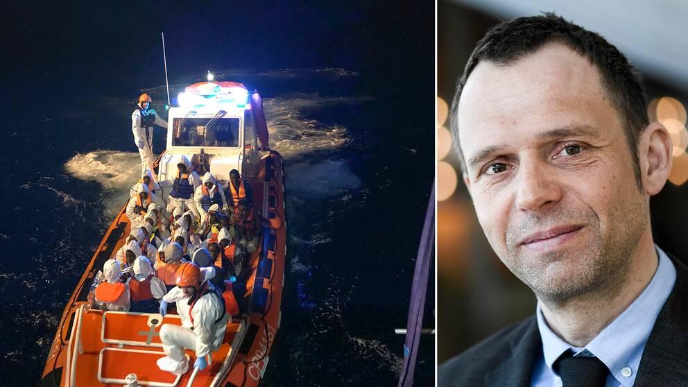 """Jens Holm (V) är kritisk till förslaget om """"plattformar"""" som lösning på EU:s migrationskris."""
