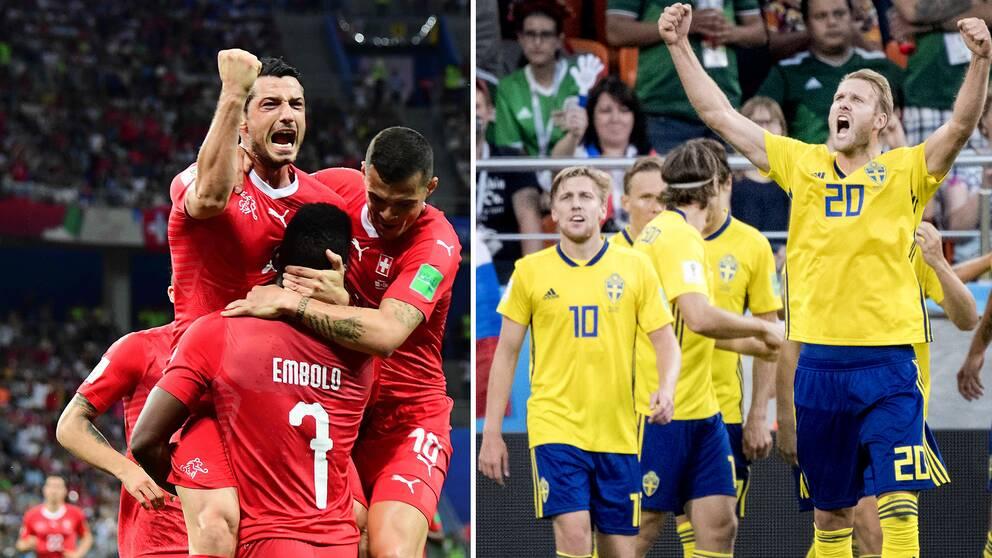 Ola Toivonen och hans kollegor i svenska fotbollslandslaget ställs mot Schweiz i åttondelsfinalen i VM