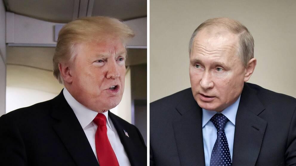 Donald Trump och Vladimir Putin möts i Helsingfors den 16 juli