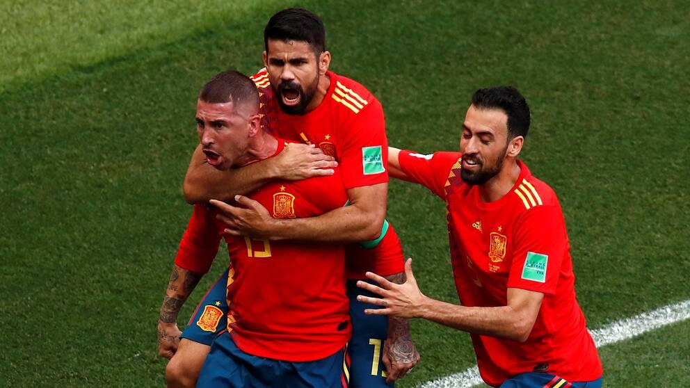 Spanien till final efter straffar