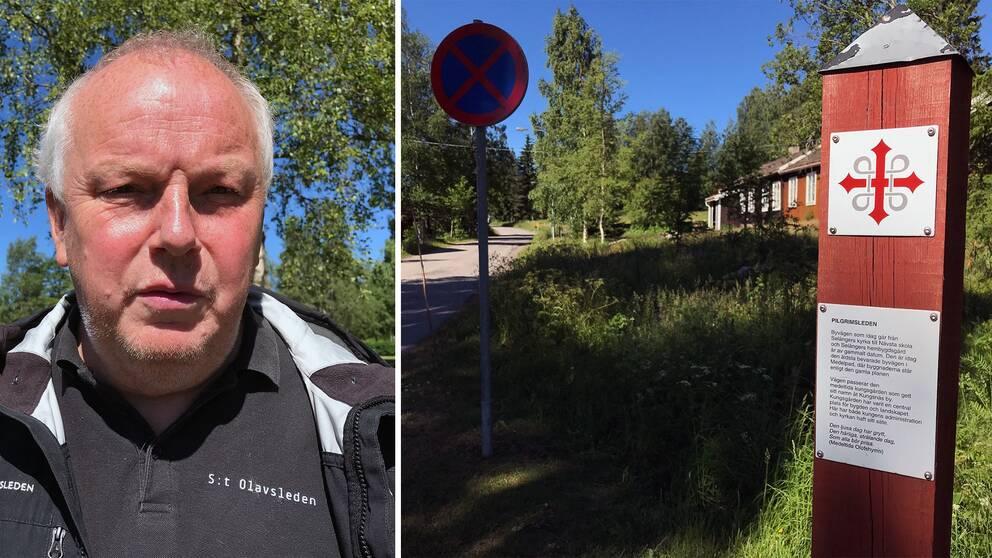 Putte Eby, projektledare för S:t Olavsleden.