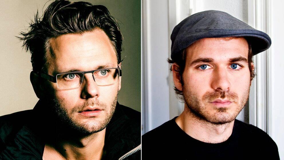 Komikerna Anton Magnusson och Simon Gärdenfors.