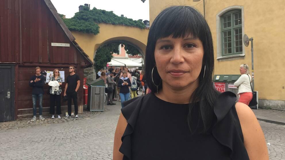 Rossana Dinamarca i Almedalen.