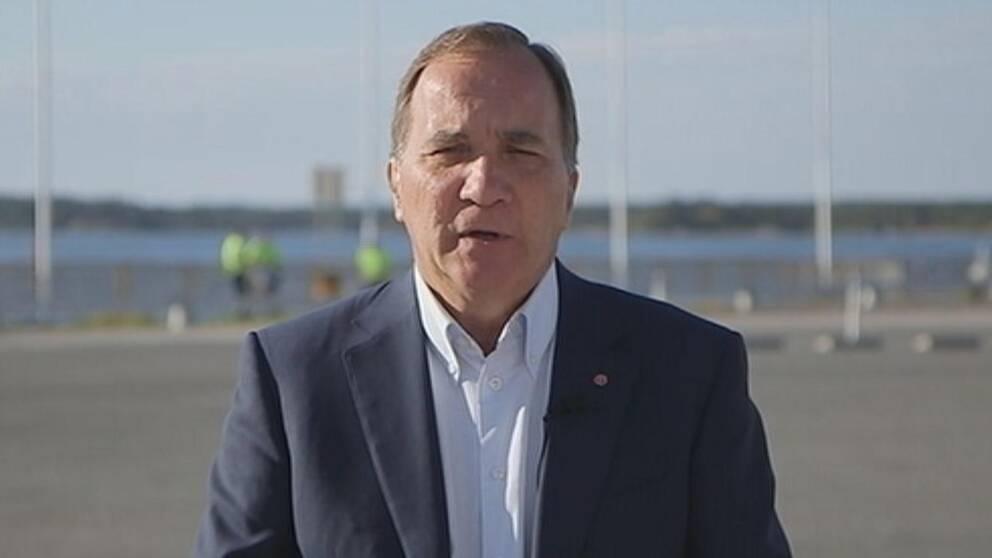 Statsminister Stefan Löfven (S) direkt i Morgonstudion.