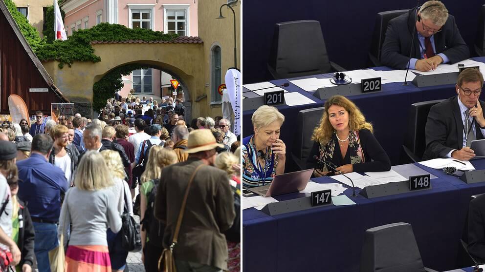 Visby eller Strausburg? En klar majoritet av svenska EU-parlamentariker valde bort Almedalsveckan då en uppmärksammad omröstning om en ny upphovsrättslag äger rum samma vecka.