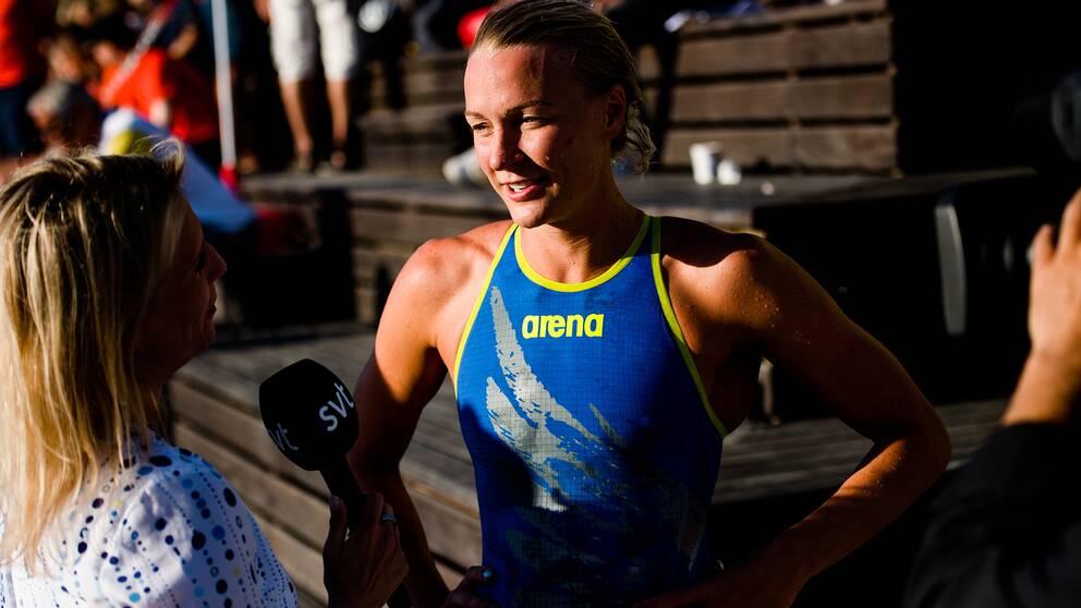 Sarah Sjöström kan ladda för final i kväll.